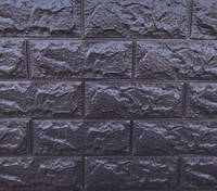 Панель самоклеящиеся 3D 700х770х7мм БАКЛАЖАН КОФЕ (кирпич) самоклейка