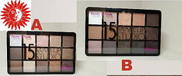 Тени для век LA ROSA MAKEUP STUDIO Pretty is Nude 15 цветов LE-115