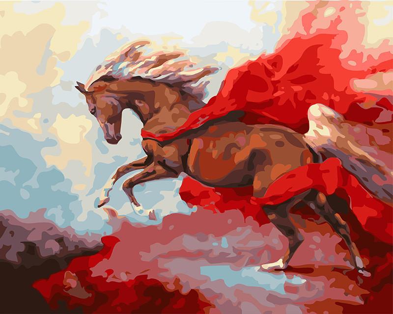 Картина по Номерам в коробке 40x50 см. Грациозная лошадь Rainbow Art
