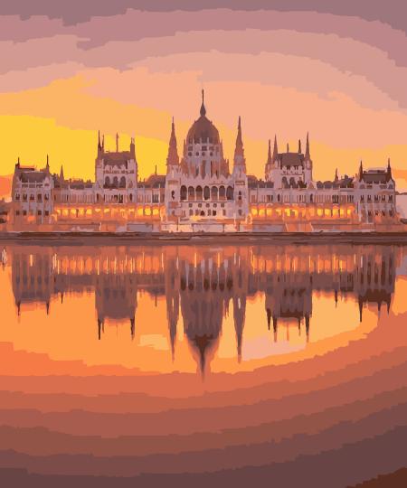 Картина по Номерам в коробке 40x50 см. Венгерский парламент Rainbow Art