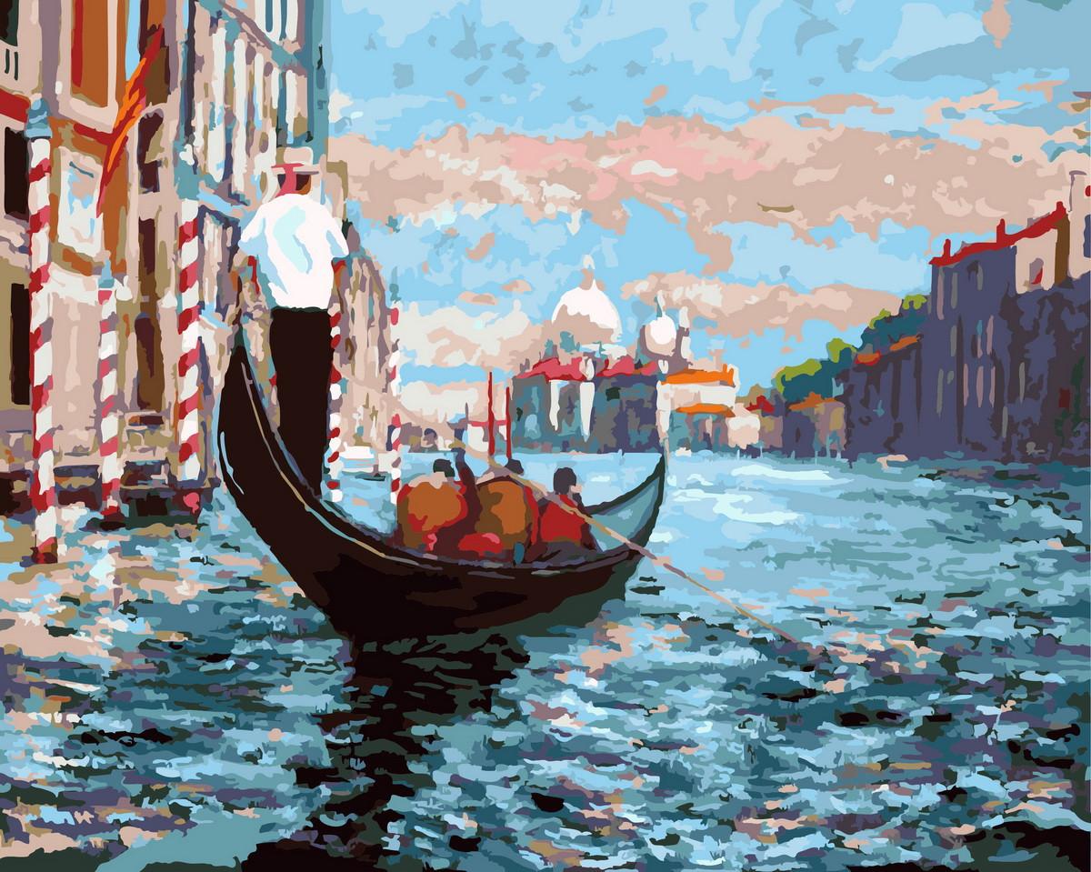 Картина по Номерам в коробке 40x50 см. Венецианская гондола Rainbow Art