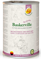 Влажный корм Baskerville Holistic мясо кабана/тыква/утка для взрослых собак всех пород  х 24 шт