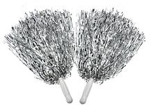 Помпони для черлідингу сріблясті