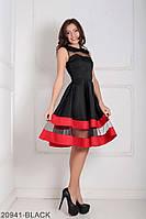 Чарівне лялькове плаття з пишною спідницею і вставками з сітки Valentine
