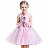 Детские нарядные платья с розочками и блестками Разные цвета, фото 3