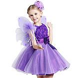Детские нарядные платья с розочками и блестками Разные цвета, фото 5