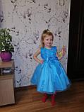 Детские нарядные платья с розочками и блестками Разные цвета, фото 7