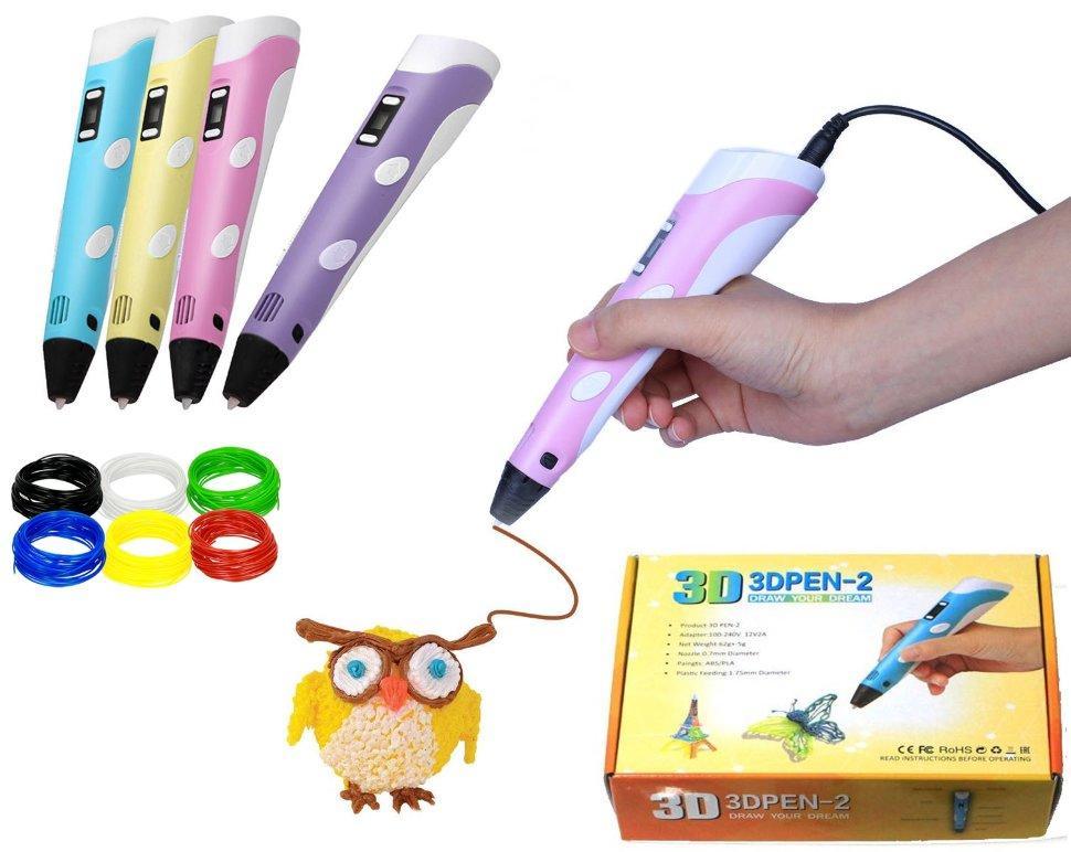 3D Ручка с LED-дисплеем 2 поколения с подставкой PEN-2 с Led  3Д ручка