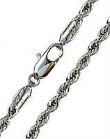 Цепочка фирмы Xuping, цвет серебряный. Плетение: верёвка.  Длина: 50 см. Ширина: 3 мм.