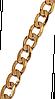 Браслет фирмы ХР, цвет - позолота. Длина 16.5 см.Ширина 4 мм. Плетение: Панцирное.