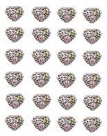 Серьги - гвоздики 12 пар,фирма Xuping. Камни: циркон разных цветов. Цвет: Серебряный. Диаметр серьги: 6 мм.