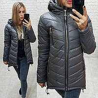 Куртка парка (арт. 300)  темно серая / серый цвет / темно серого цвета