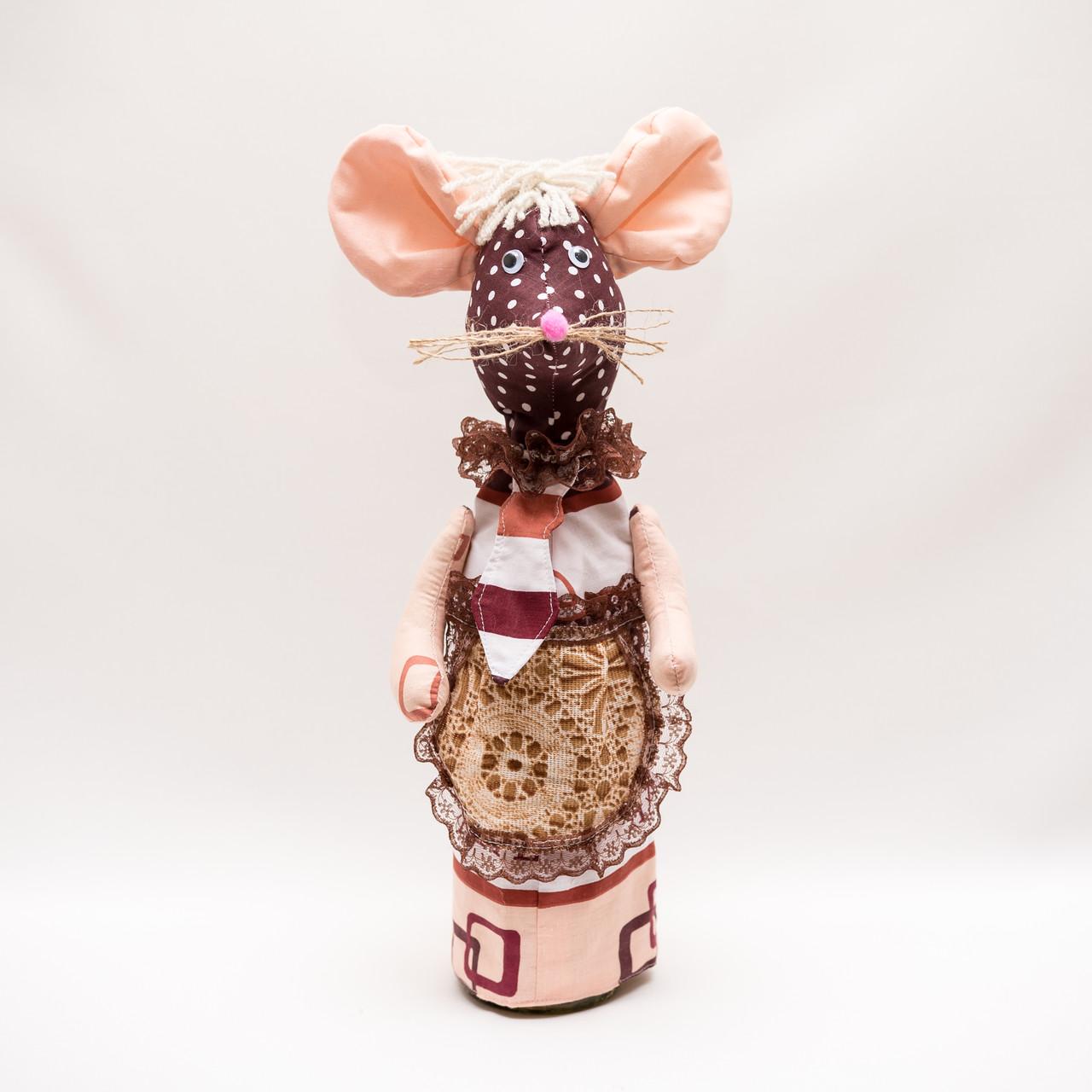 Украшение на бутылку Мышка