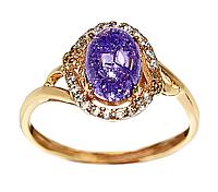 Кольцо ХР. Цвет:позолота.Камни: белый циркон и сиреневый кристалл .Ширина 11 мм. Есть 17,5 р.