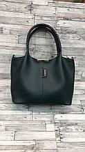 Стильная Женская сумка ZARA из экокожи . Синий , зеленый.