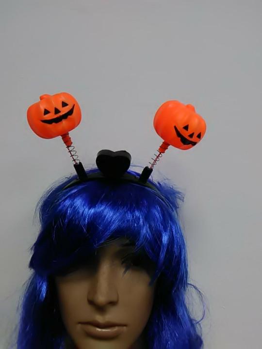 Обруч на хелоуин в форме тыквы светящийся