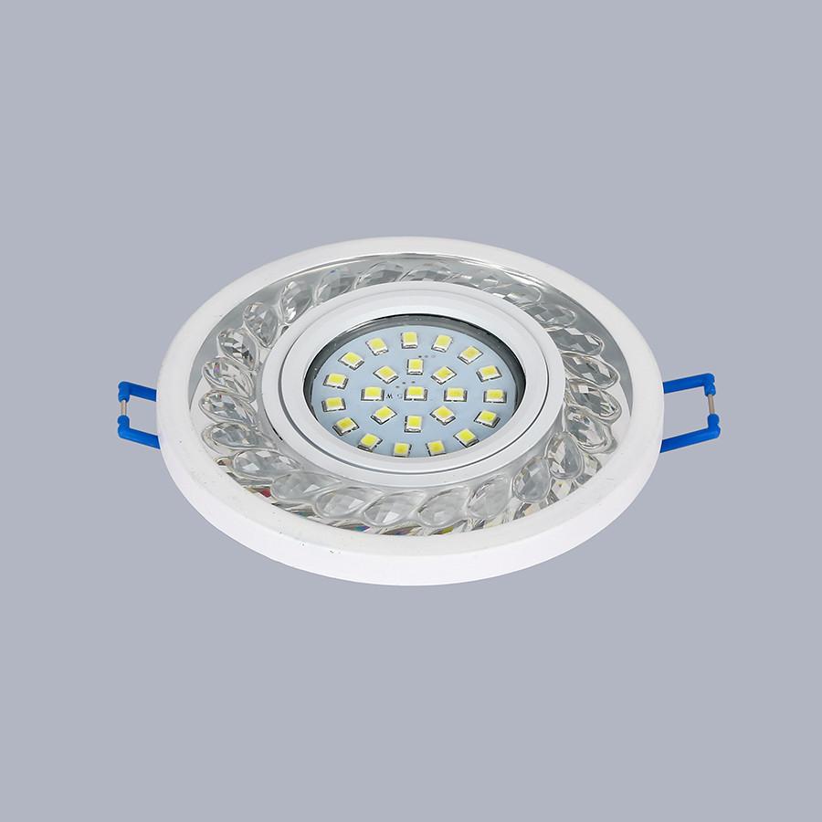 Белый светильник с лэд лентой (9,5см)