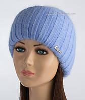 Шерстяная вязаная шапочка Кейла с люрексом гиацинт