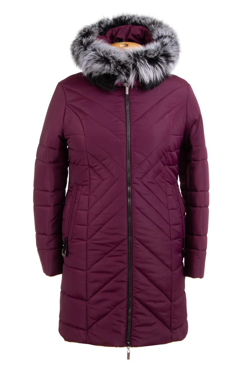Зимние женские куртки  больших размеров 52-62 бордовый