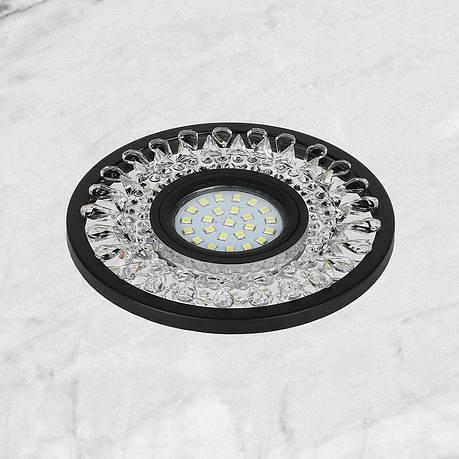 Чёрный светильник с лэд лентой (12см), фото 2