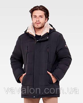 Зимняя мужская куртка Vavalon KZ-938 black, фото 2