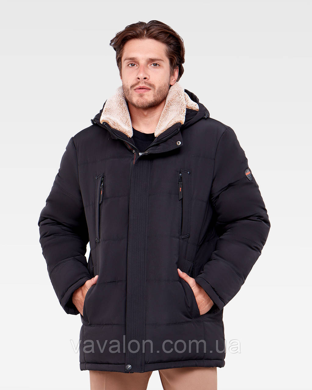 Зимняя мужская куртка Vavalon KZ-938 black