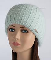 Теплая вязаная шапочка Кейла с люрексом иней