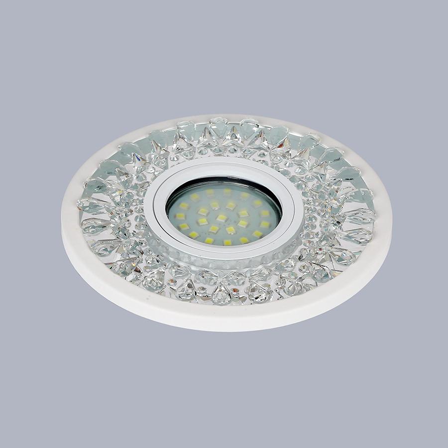 Белый светильник с лэд лентой (12см)