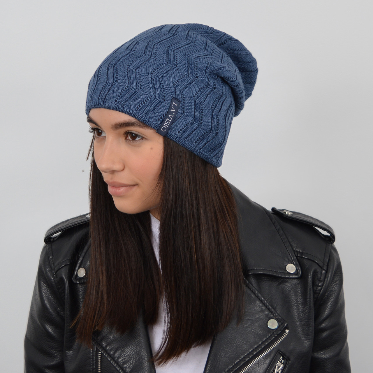 Женская шапка LaVisio (ЛаВисио) 254-219 джинс, фото 1