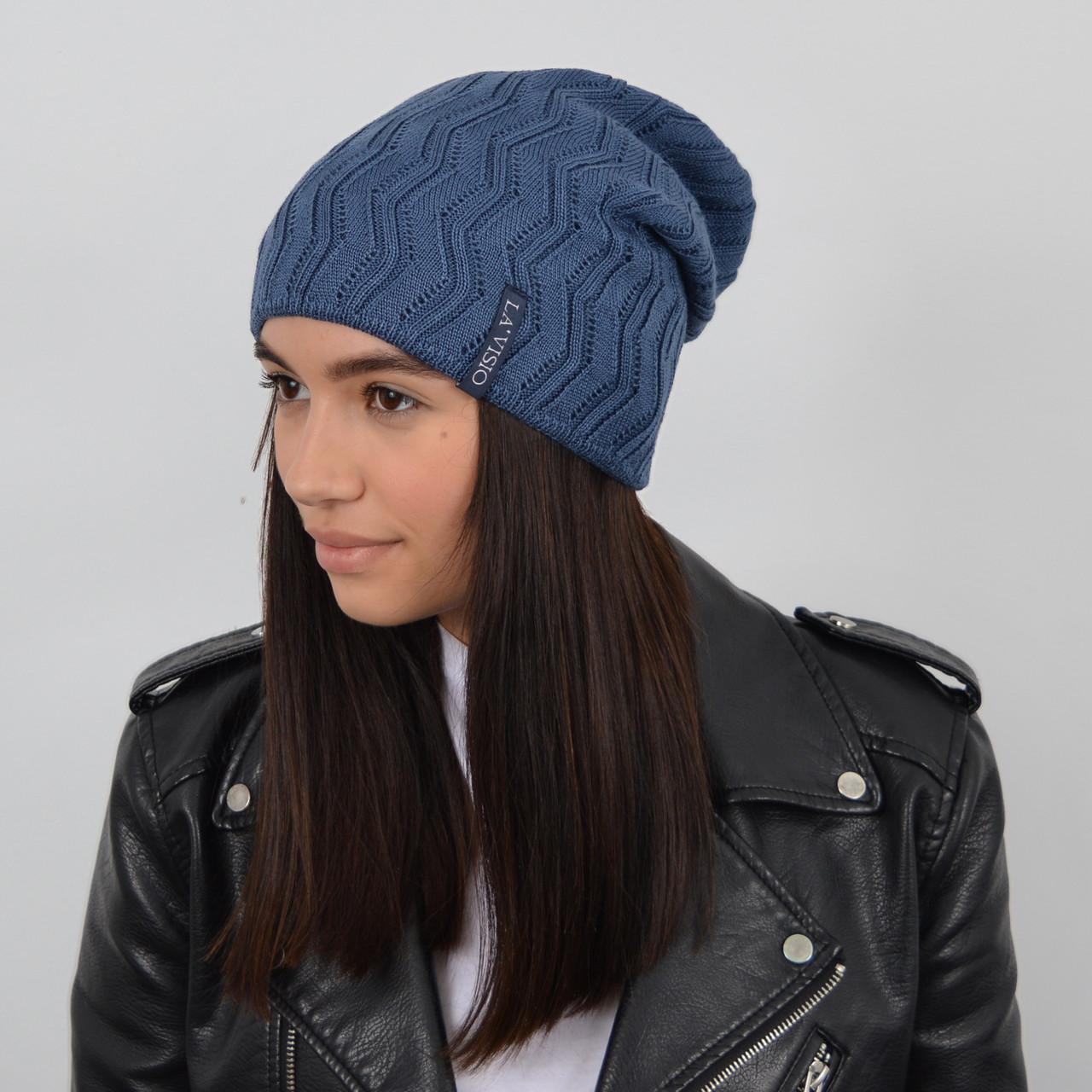 Женская шапка LaVisio (ЛаВисио) 254-219 джинс