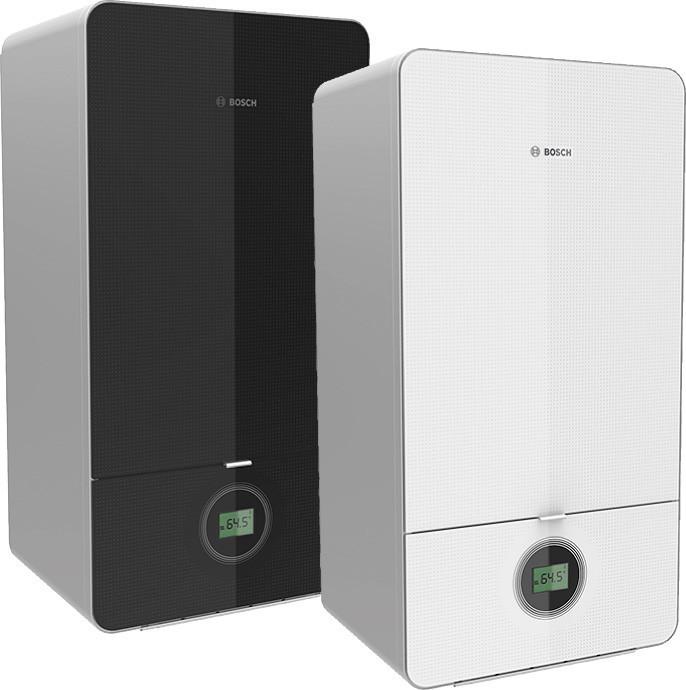 Газовый конденсационный котел BOSCH Condens 7000i W (180 кв.м), 15,2 кВт, черный