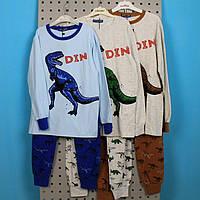 Детская трикотажная Пижама для мальчика Дино тм SETTY KOOP размер 10, фото 1