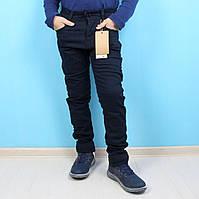 Брюки синие теплые для мальчика на флисе тм тм Grace размер 116,140
