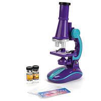 Детский игрушечный микроскоп на батарейках с подсветкой (увеличение в 100х 200х 300х) LimoToy C2127