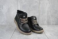 Подростковые ботинки кожаные зимние черные Anser 65, фото 1