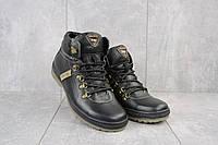 Ботинки мужские Pav 3231 черные (натуральная кожа, зима), фото 1