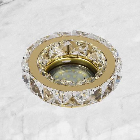Золотой круглый светильник, фото 2