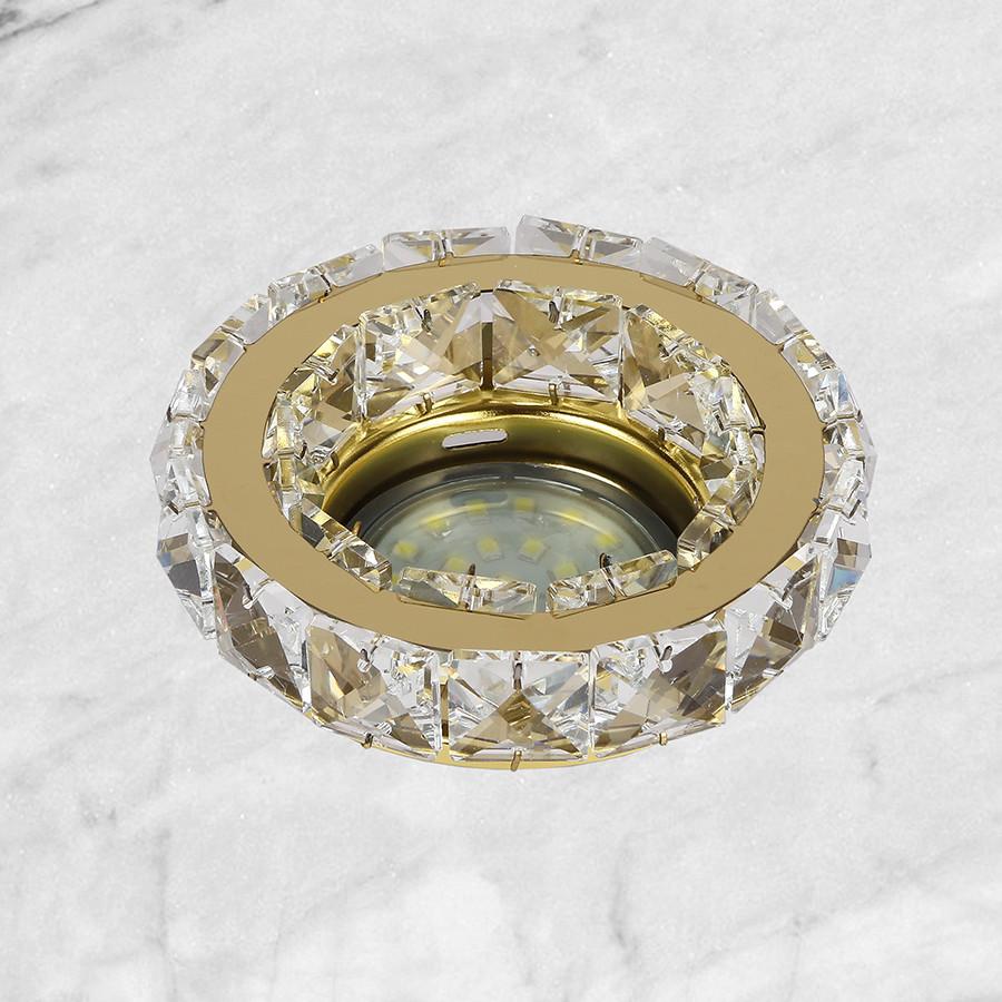 Золотой круглый светильник