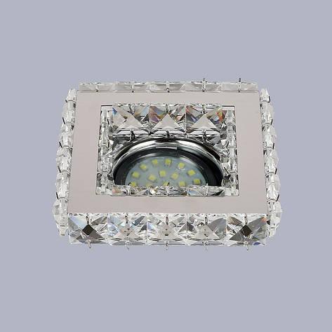 Серебряный квадратный светильник, фото 2