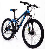 Горный велосипед на амортизации HAMMER ACTIVE 26-S211 Сборка 85% Япония Shimano Двухподвес от 160 см