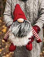 Новогоднее украшение «Огромный гном». красный, фото 1