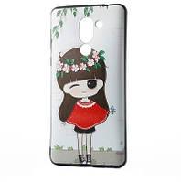 """Чехол для Huawei Honor 6X / Mate 9 Lite, силиконовый бампер с рисунок """"Девочка"""""""