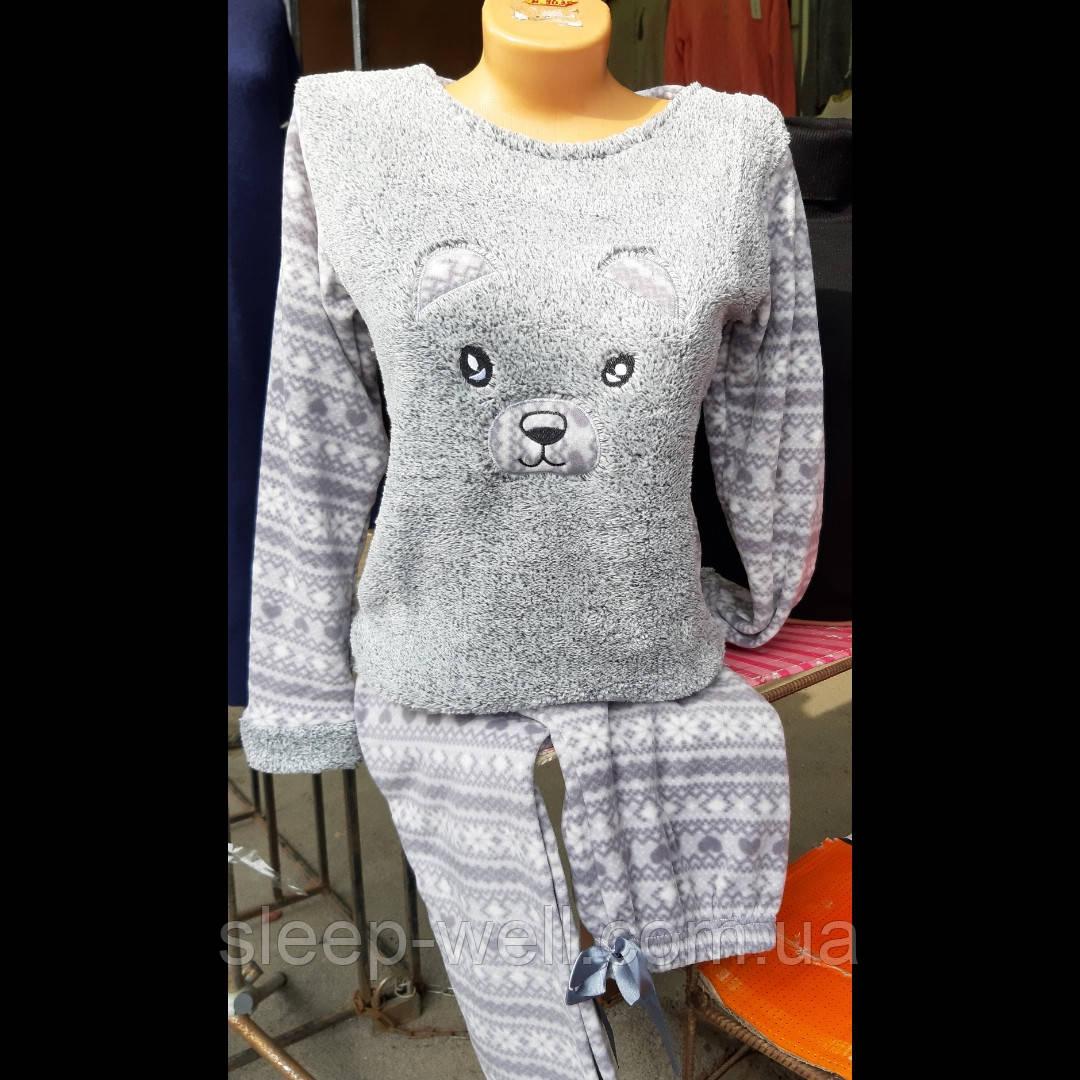 Пижама тёплая, велсофт