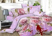 Комплект постельного белья полуторный XHY024 ТМ TAG 1,5-спальный, постельное белье полуторка