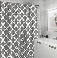 Шторка для ванной Baño (плотная ткань с пропиткой) 180X180 см (Серая)