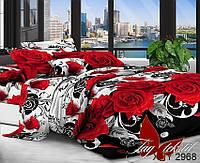Комплект постельного белья полуторный XHY2968 ТМ TAG 1,5-спальный, постельное белье полуторка