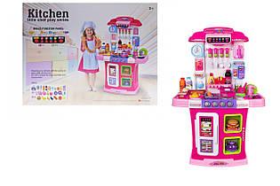 Игровой набор детская Кухня WD-R28, вода, аэровытяжка, свет, звук, 95 см розовая