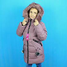 С-13 Зимняя куртка для девочки тм TAURUS размер 8,12,16 лет