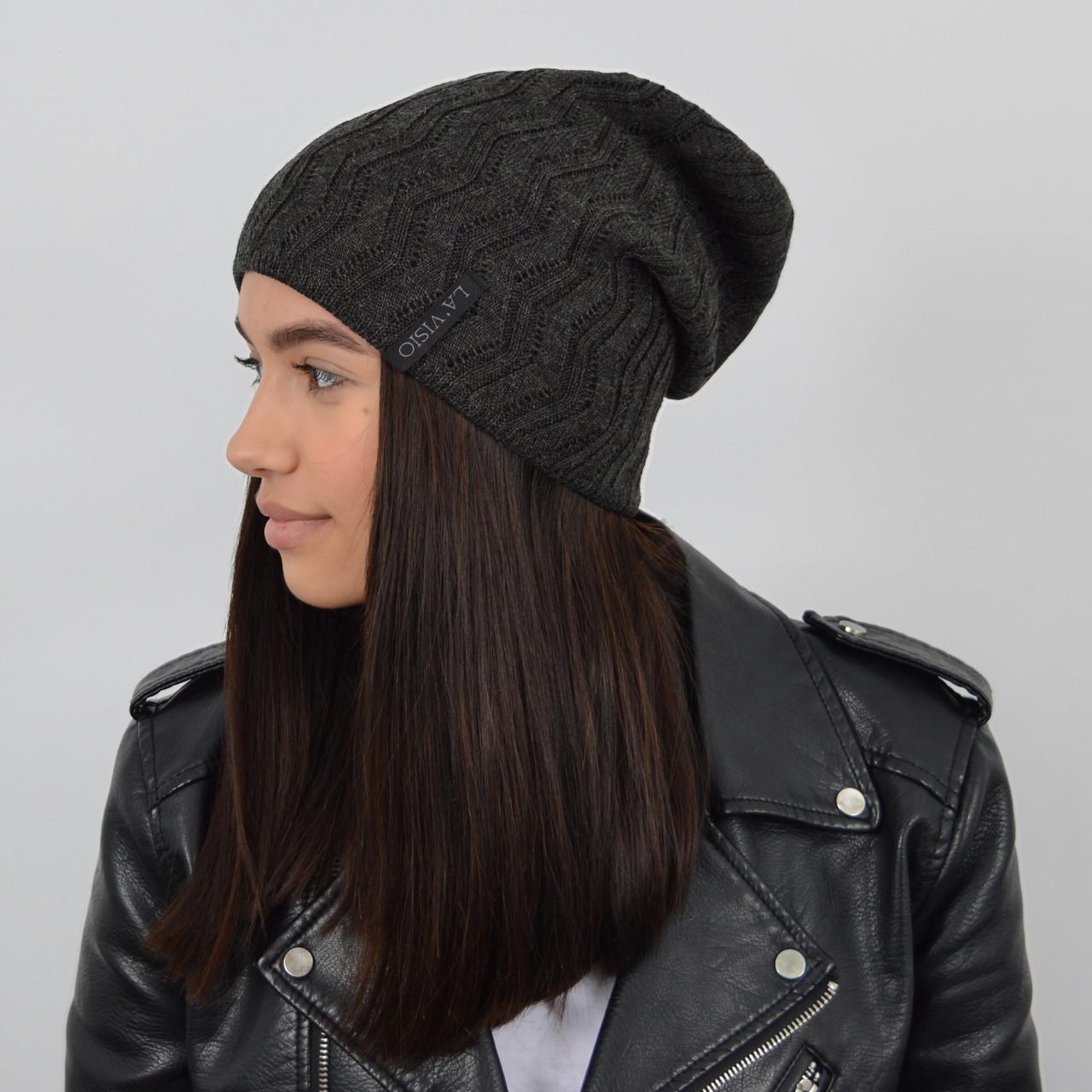 Женская шапка LaVisio (ЛаВисио) 254-203 т.серый