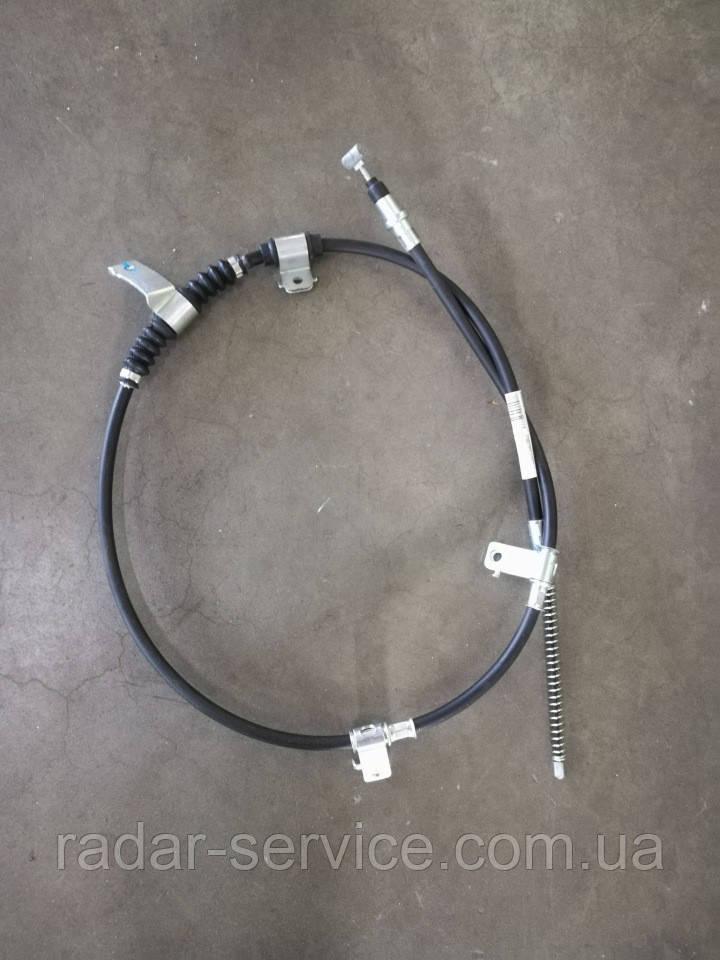 Трос ручника левый Авео Т250 Вида, 9653487-0